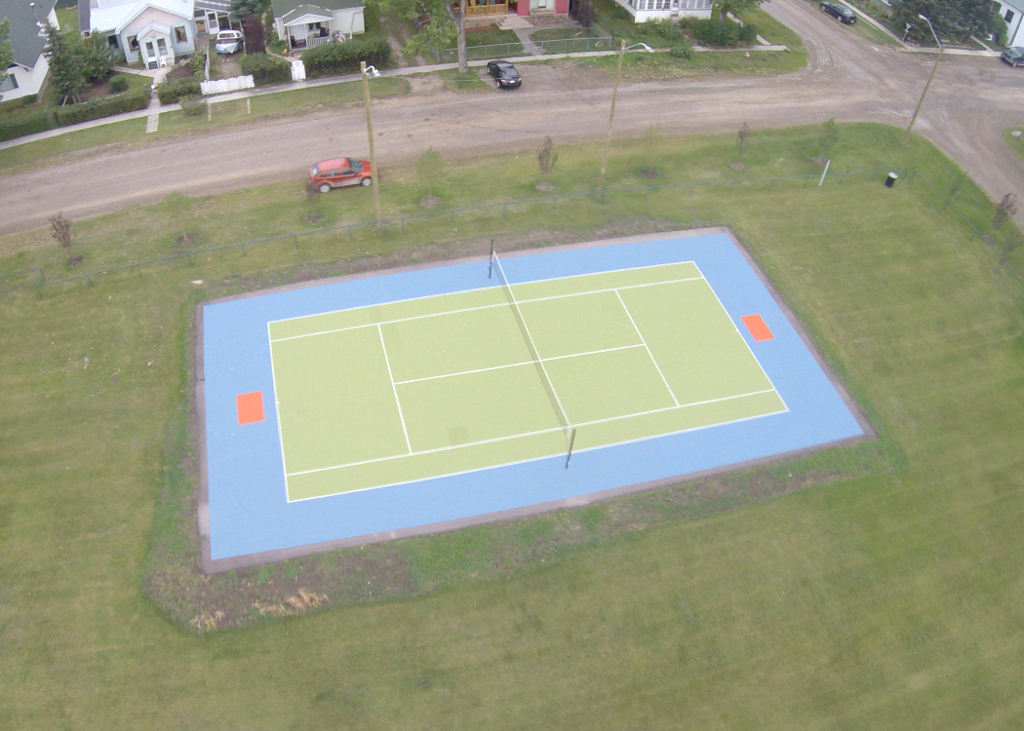 Blackie, AB full size Sport Court aerial view