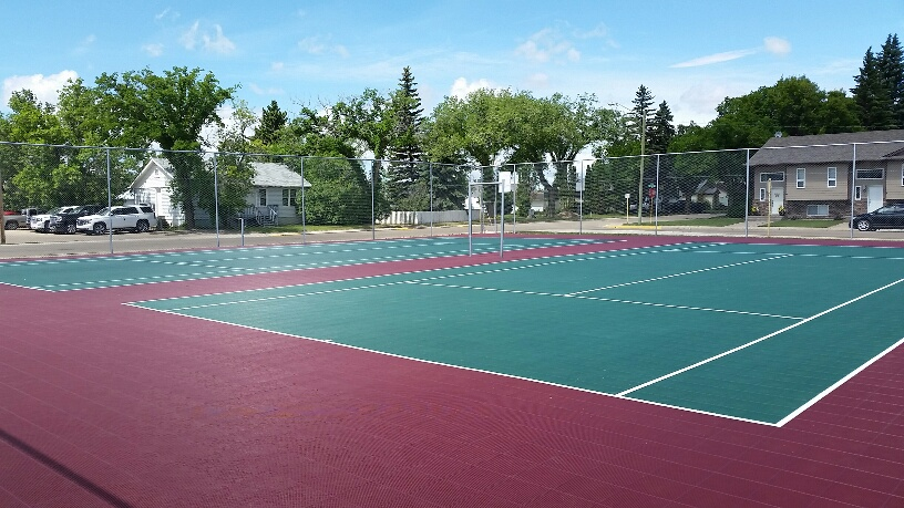 City of Brooks AB, 2 full size tennis courts, 2017 Alberta Summer Games
