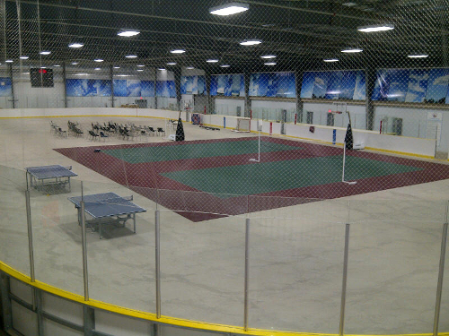 Fort McKay self-installed their portable Sport Court flooring for use in their arena.