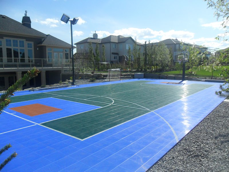 Sport Court 35' x 65' outdoor multi-use backyard game court.